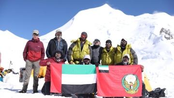 Photo: UAE military mountaineers reach summit of Mt Himlung Himal