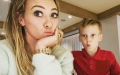 Photo: Hilary Duff says she's 'doomed' as she struggles to help son with homework