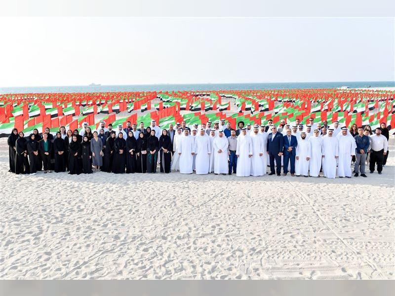 4,500 flags create portraits of Mohammed bin Rashid, Mohamed bin Zayed