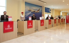 Photo: Emirates opens first remote check-in terminal in Dubai for cruise passengers