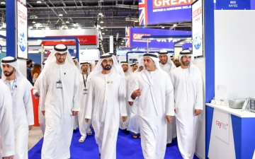 Photo: Mohammed bin Rashid visits ADIPEC 2019
