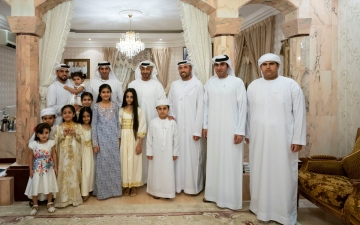 Photo: Mohamed bin Zayed visits Mohammed Atiq Al Falahi