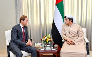 Photo: Mansour bin Zayed receives Russian Minister of Industry and Trade