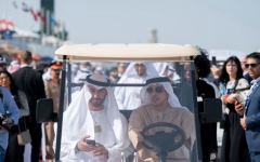 Photo: Mohamed bin Zayed visits Dubai Airshow 2019