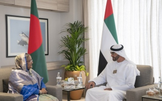 Photo: Mohamed bin Zayed, Bangladesh PM explore prospects for joint cooperation