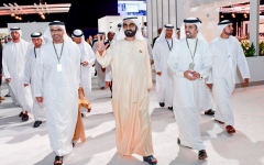 Photo: Mohammed bin Rashid visits GBF side exhibition