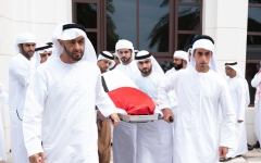 Photo: UAE leaders perform funeral prayers on the body of Sultan bin Zayed