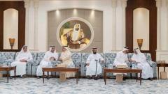 Photo: Mohamed bin Zayed receives condolences on death of Sultan bin Zayed