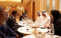 Photo: Mohamed bin Zayed receives Zambian President