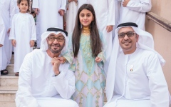 Photo: Mohamed bin Zayed visits family of Aisha Al Mazrouei