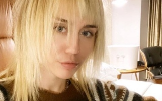 Photo: Miley Cyrus shows off platinum mullet