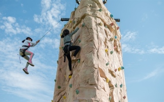 Photo: Sharjah Girl Guides build self-confidence braving the wild
