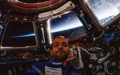 Photo: Emirati astronaut in space: Hazzaa Al Mansoori