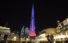 Photo: UAE lights Burj Khalifa with #MatesHelpMates in display of support for Australia