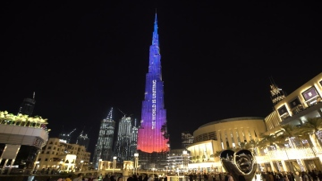 Photo: UAE lights Burj Khalifa with #MatesHelpMates in display of support for Australia