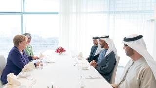 Photo: Mohamed bin Zayed and Merkel review bilateral ties, regional development