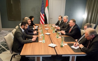 Photo: Abdullah bin Zayed meets US Secretary of State