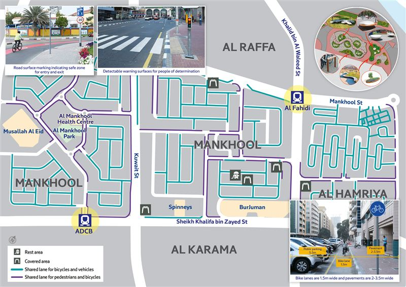 Photo: Soft Mobility Project to cover 3 Dubai areas this March