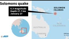 Photo: 6.3 magnitude earthquake strikes Solomon Islands