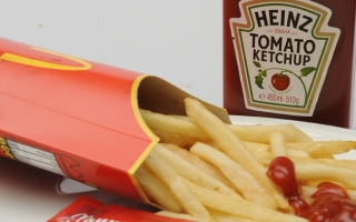 Photo: Man eats McDonald's meal that was buried in a garden for a year