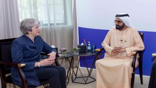 Photo: Mohammed bin Rashid receives former British Prime Minister