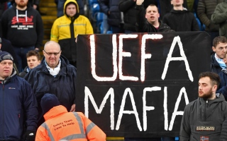 Photo: Man City take fight to UEFA on and off the field