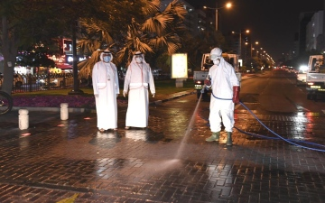 Photo: Dubai to conduct round-the-clock sterilisation, enforce strict restrictions on movement across the emirate; legal action to be taken against violators