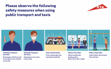 Photo: RTA takes additional measures to protect metro, bus and taxi riders