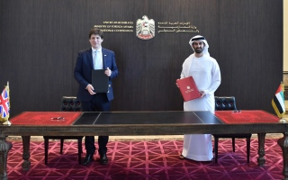 Photo: UAE, UK sign MoU on transit flights for British citizens during COVID-19 emergency