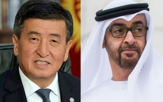 Photo: Mohamed bin Zayed, President of Kyrgyzstan review global fight against coronavirus