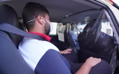 Photo: Dubai Taxi installs isolators to avoid risks of COVID-19 infection