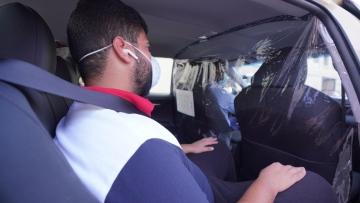 Photo: Dubai Taxi installs isolators to avoid risks of COVID-19 infection