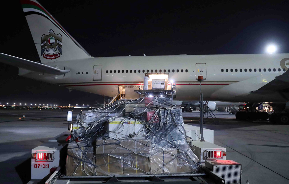 Photo: UAE sends aid plane to Colombia to assist efforts to counter COVID-19, repatriates Colombian citizens