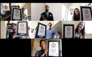 Photo: UAE-based athletes smash Guinness World Records title remotely