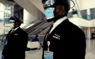 Photo: World Security introduces 'Smart Helmet' to detect COVID-19 infection in UAE