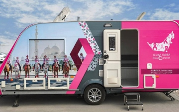 Photo: Pink Caravan brings its medical minivan to Ajman