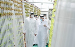 Photo: Mohamed bin Zayed tours model farms in Abu Dhabi
