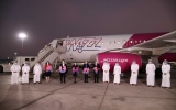 Photo: First scheduled Wizz Air flight lands at Abu Dhabi International Airport