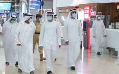 Photo: Hamdan bin Mohammed reviews preparations and protocols at Dubai Airport