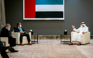 Photo: Abdullah bin Zayed receives White House Middle Eastern Affairs official