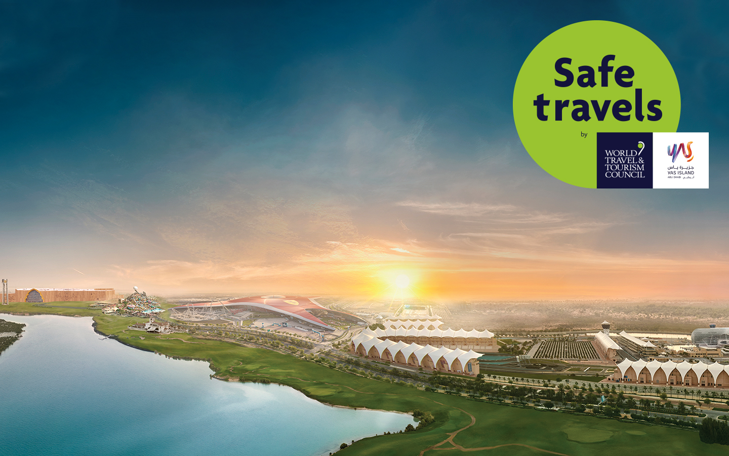 Photo: Yas Island first destination in Abu Dhabi to be awarded coveted WTTC 'Safe Travels' stamp