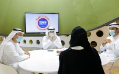 Photo: Hamdan bin Mohammed reviews KHDA's preparations for the new school year