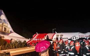 Photo: Relief efforts for Air India Express flight survivors