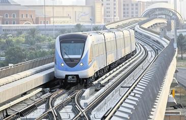 The Dubai Metro has transported more than a million people since its launch on September 9. (DENNIS B MALLARI)